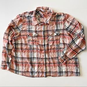 Maurices Plaid Long Sleeve Button Up Plus Size 4
